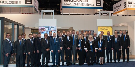 Thanks to all visitors for their interest in the Brückner Group's various solutions