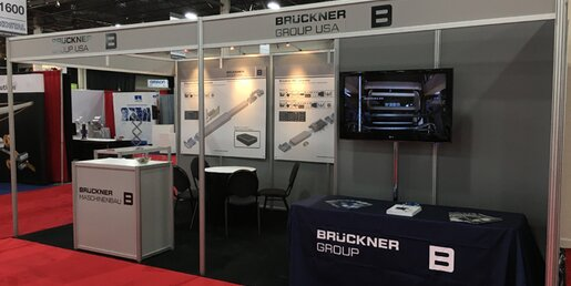 Silence before the storm: Brückner booth  a few minutes before the Battery Show 2016 opened ist doors