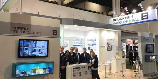 A heartfelt thanks to all visitors from the staff at the joint Brückner Group booth