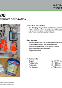 Flyer DecoMat-700