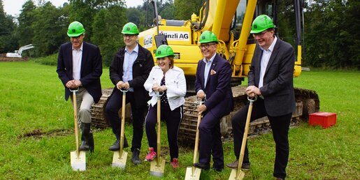 Groundbreaking of Waldau building