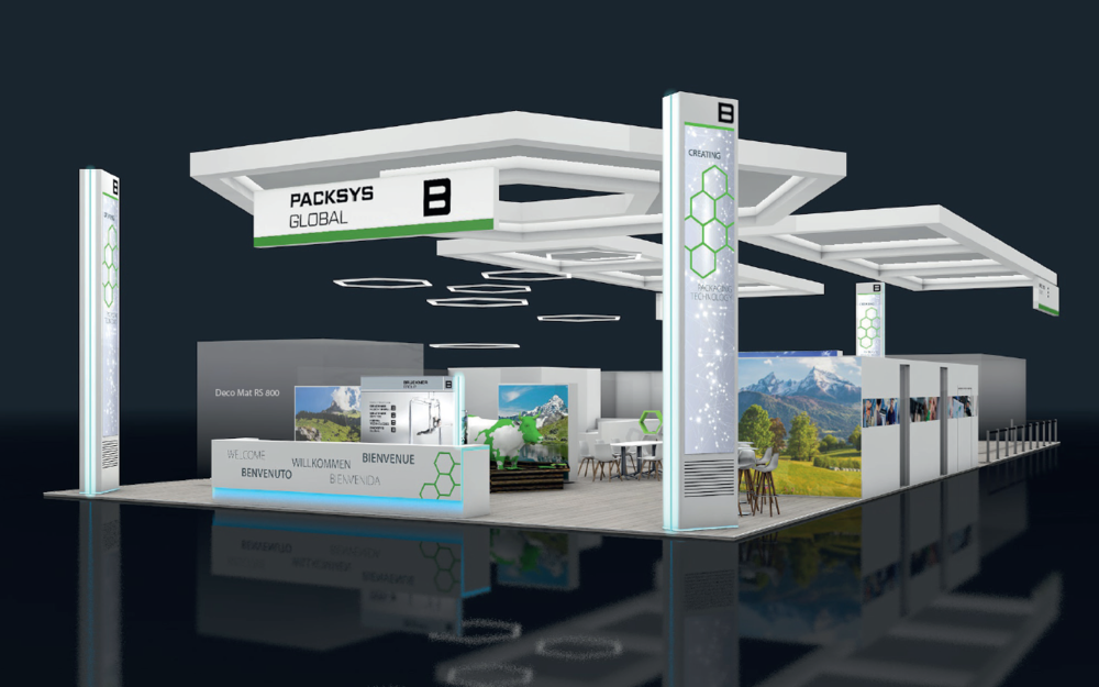 PackSys Global booth rendering of K-Show 2019