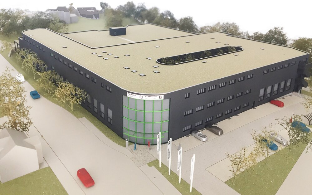 Rendering PackSys Global new building Waldau