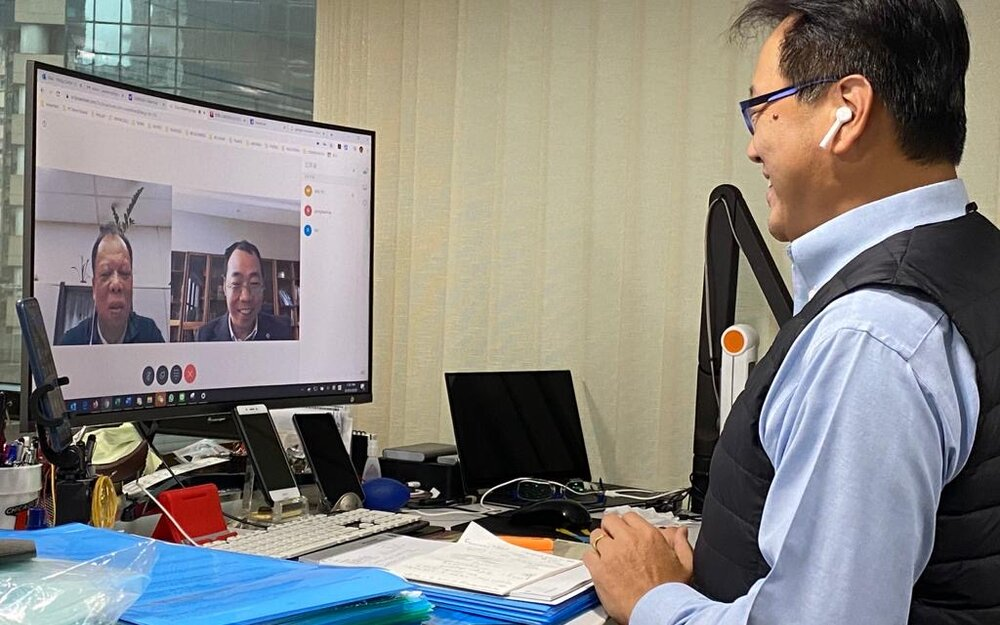 Brückner Far East also uses video conferences instead of face-to-face meetings