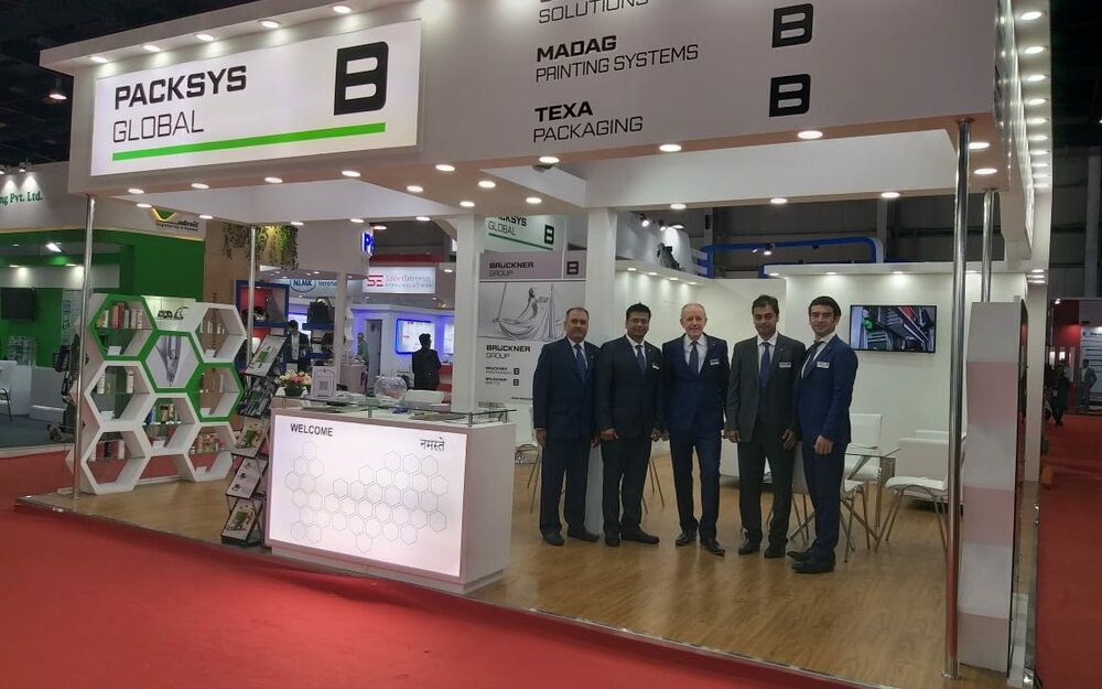 PackSys Global team at Indiaplast exhibition