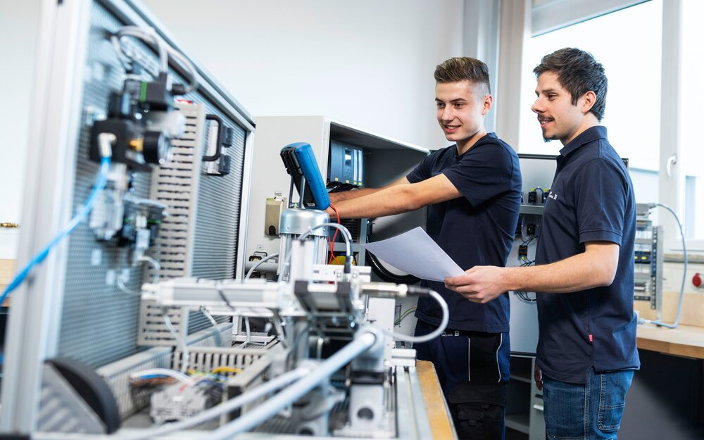 Automation technology electronics technician The starting point is a sound basic education is mechanics and electronics