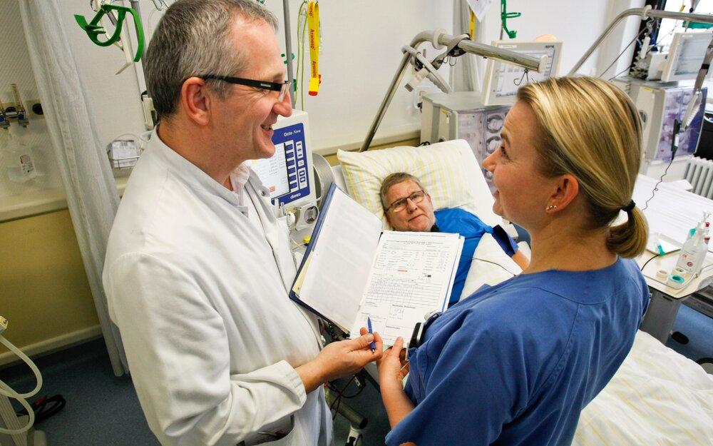 Dialysis centre of the Prosper Hospital in Recklinghausen
