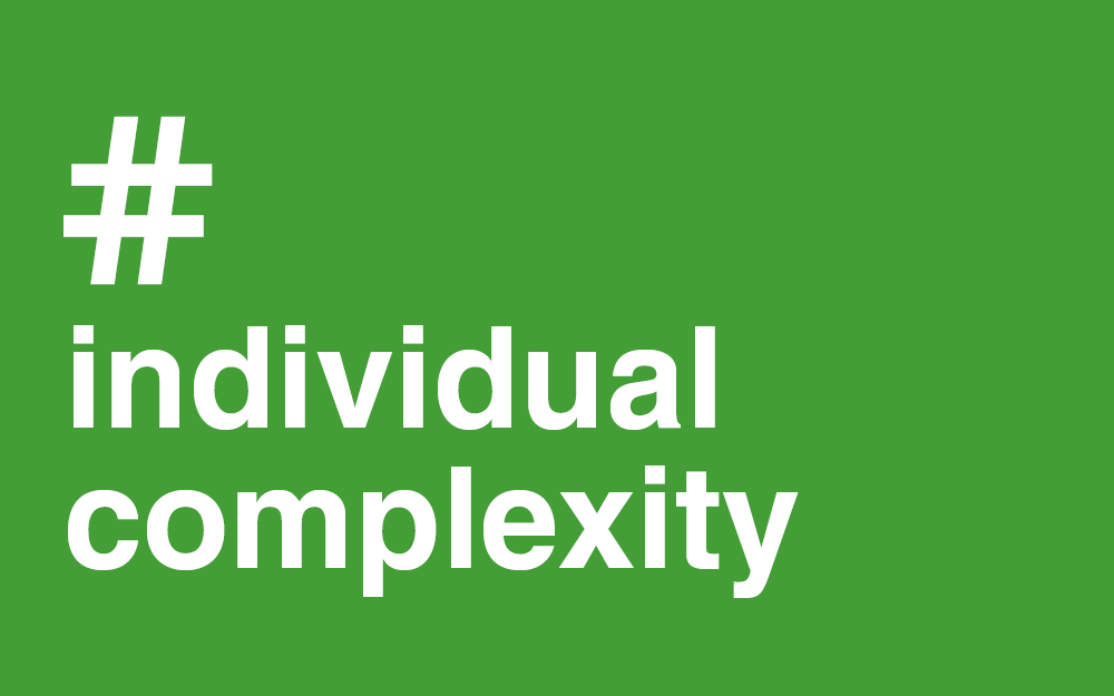 #Complexity #Individual