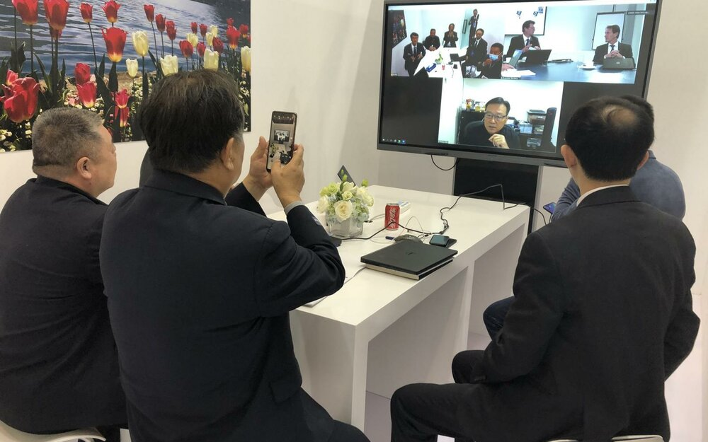 Customers appreciated the live streaming opportunity at the ChinaNewPlas very much.