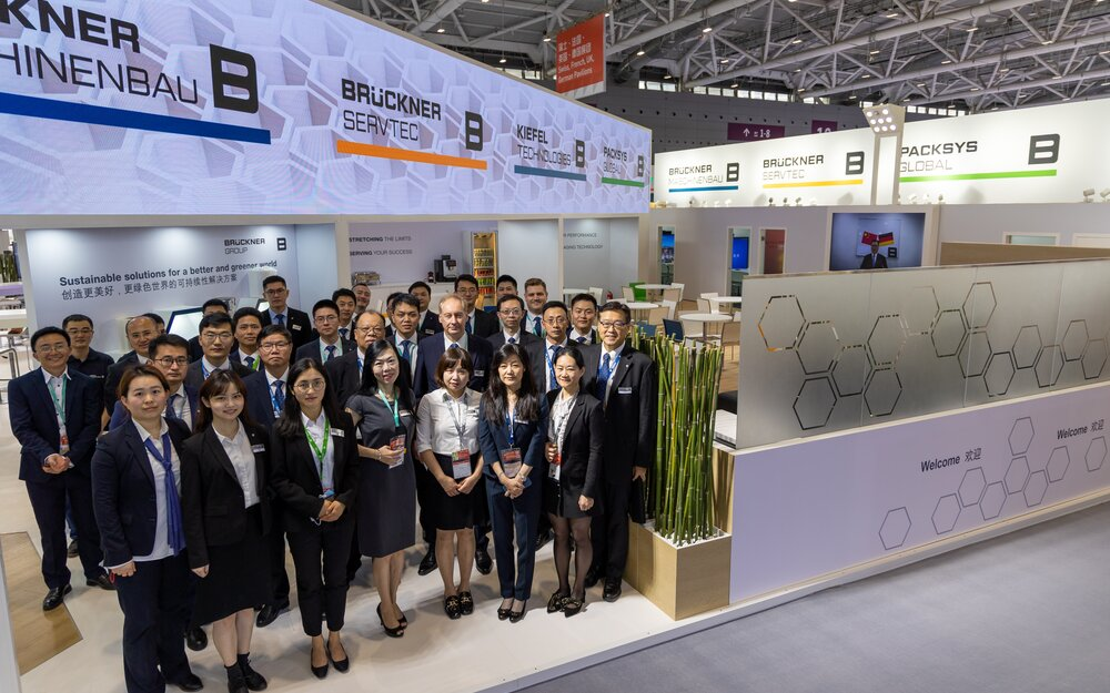 Brückner team at Chinaplas was happy to welcome customers and friends