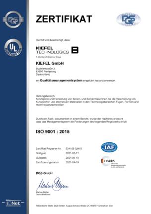 Qualitätsmanagement | ISO 9001:2015