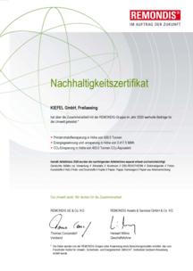 Sustainability Certificate | Remondis