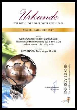 Energy Globe 2020 | INFRANORM